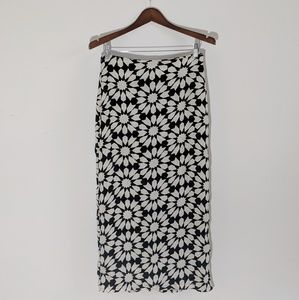 Reformation Black & White Print Skirt